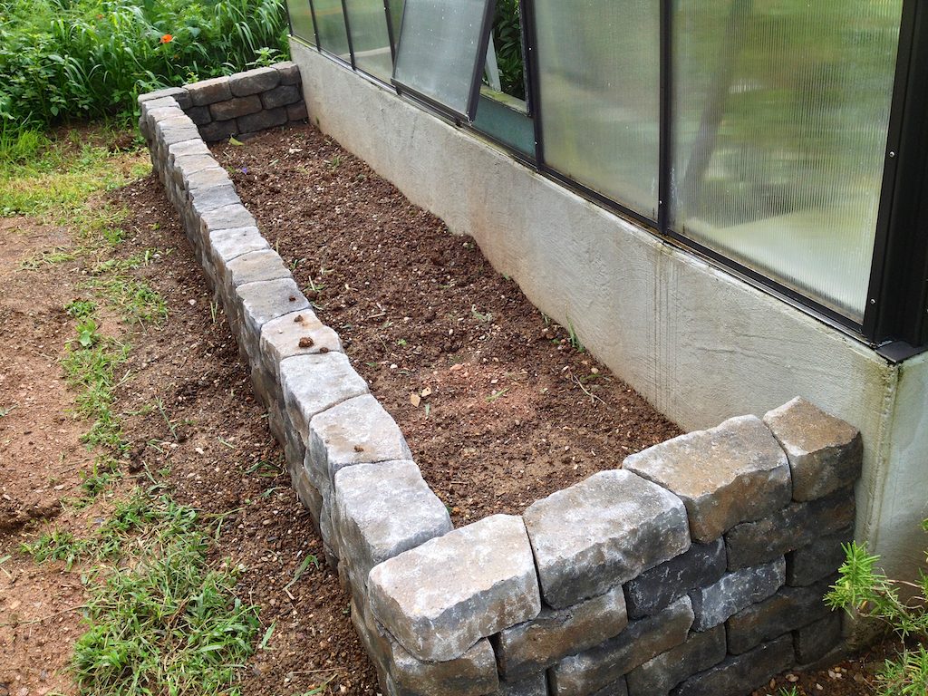 Alpine bed ready for alpine soil mix