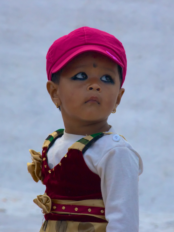 Little girl at Boudhanath Stupa