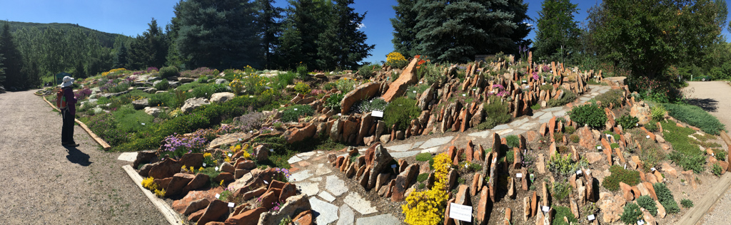 Panorama of the Crevice Garden at the Yampa River Botanic Garden