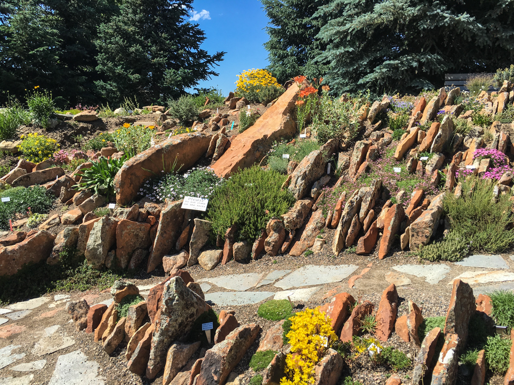 Another view of the Crevice Garden at the Yampa River Botanic Garden