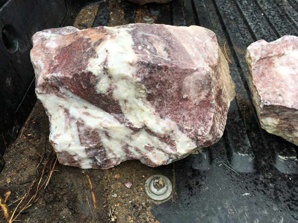 Pink Marble Rock : Pink marble rock showing lots of white